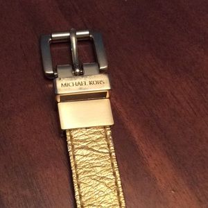 Michael Kors Gold Skinny Belt